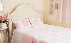 Pink Bedding Sets - Floral Bedding - Feminine Bedding - Girls Bedding Sets - Cream Duvet - Cream Duvet Cover - Duvet Filler Insert - Duvet Insert Full - Hand Block Printed from Attiser