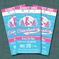 Cheerleading party invite Crafts and Parties Pinterest Cheer