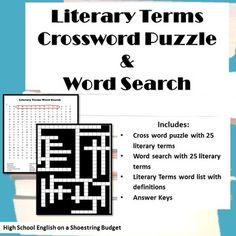 Literary terms crossword puzzle answers