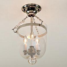 Mini Smokebell Semi-Flush Ceiling Lantern