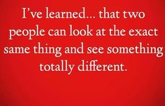 differences of opinion...that's life