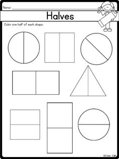 This is a simple worksheet that deals with halves in