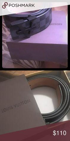 Authentic Louis Vuitton Belt (Out Of Season) Black And Grey Checkered Louis Vuitton Belt . Black Emblem. Never Worn. Accessories Belts