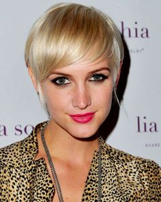 Pixie cute short hairstyle for thin hair