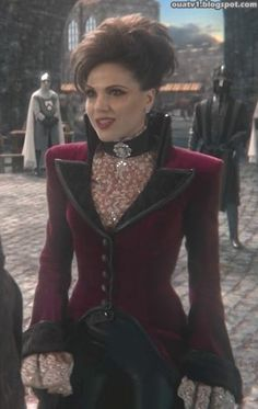 """A trailing riding coat/jacket similar to what Princess Isabella wears in Madison Lane and the Wand of Rasputin. (Image: Evil Queen Regina in """"An Apple Red as Blood"""" from Once Upon A Time) http://www.amazon.com/dp/B00K1Q6ZN4/ellepins-20"""