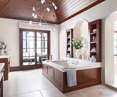 Must-See Luxury Bathrooms of 2015: http://www.bhg.com/bathroom/decorating/dream/luxury-bathrooms/?socsrc=bhgpin060915streamlinedelegance&page=9