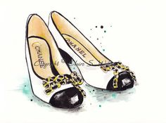 Chanel Shoes - Art Print 8x10