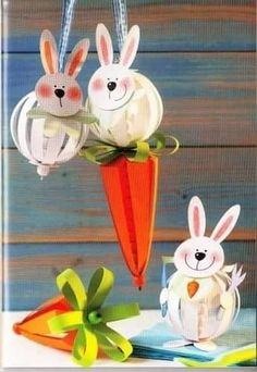 * * * The workshop suggestion box * * *: DIY Easter Rabbit Crafts, Diy Y Manualidades, Diy And Crafts, Paper Crafts, Paper Balls, Easter Celebration, Easter Holidays, Easter Crafts For Kids, Animal Crafts