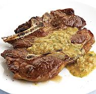 Seared Lamb Shoulder Chops with Mustard-Dill Pan Sauce- I use lamb chops instead of shoulder chops!