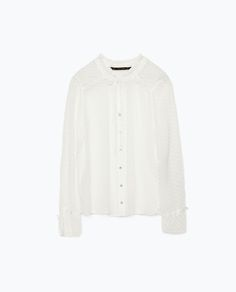 ZARA - NEW THIS WEEK - DOTTED SWISS BLOUSE