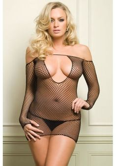 Keyhole Fishnet Dress - eyecandybeachwear.com