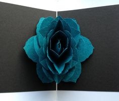 Flower pop up card by thecoffeebead on Etsy