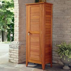 Home Styles Montego Bay One Door Multi-Purpose Storage Cabinet  Great for Pool Towels