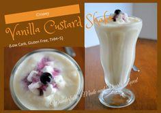 Creamy Vanilla Custard Shake (Low Carb, Gluten Free, THM S)