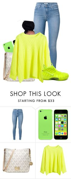 """Untitled #335"" by nolove21 ❤ liked on Polyvore featuring 7 For All Mankind, Michael Kors and NIKE"