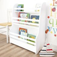 I'm a big fan of front facing book cases for kids. This is the perfect size for little Book-Lovers to choose bed time stories from!