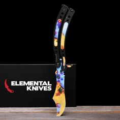 Real Case Hardened Butterfly 2 - Elemental Knives