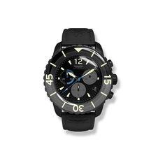 Skywatch Chronograph: Black Ip Black & Grey 44mm Watch $395