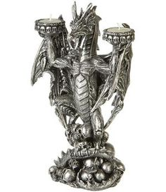 Silvery Dragon - Tealigt Holder 30cm 26,10 e