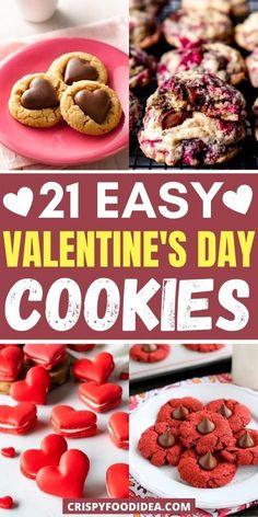 Valentines Day Food, Valentine Desserts, Valentine Cookies, Valentines Recipes, Valentine Ideas, Fall Cookie Recipes, Holiday Recipes, Raspberry Cookies, Cute Snacks