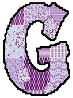 arte rabiscos e letras: Letras do alfabeto - Patchwork Bubble Letters, 3d Letters, Alphabet Letters, Picture Letters, Letter Pictures, Coat Of Many Colors, Font Art, Colouring Pics, Letter G