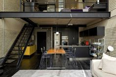 industrial loft design...... This is my dream. So simple