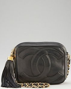 Chanel Black Lambskin CC Camera Bag - the tassel bags are the best