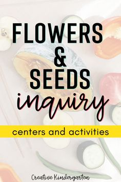 Inquiry centers and activities to explore flowers and seeds. Use inquiry based learning about plants with technology, hands-on learning and exploration. Kindergarten Journals, Kindergarten Science Activities, Spring Activities, Learning Activities, Preschool Classroom, Teaching Ideas, Parts Of A Flower, Parts Of A Plant, Inquiry Based Learning