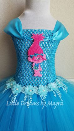 princess poppy tutu dress trolls costume troll dress any character or colour d guisements. Black Bedroom Furniture Sets. Home Design Ideas