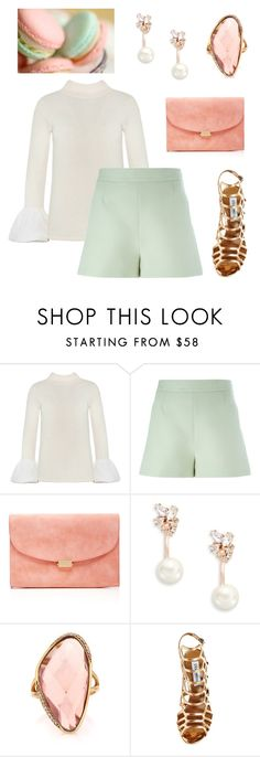 """Fresh Mint"" by mayrae-sanchez on Polyvore featuring Valentino, Mansur Gavriel, Kate Spade, Mark Broumand, Steve Madden, women's clothing, women, female, woman and misses"