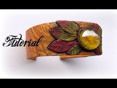Phoenix Feather Polymer Clay Bangle Tutorial   Mica Shift & Skinner Blen...