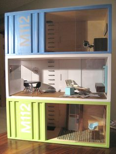 No WAY!!!  Miniature storage pod dollhouses, stackable, modular, way cool. Way too expensive, but so cool!