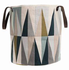Ferm Living Vasketøjskurv Spear lavet af økologisk bomuld, flerfarvede, 35x40 cm eller 40x60 cm
