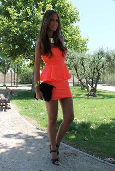 Peplum Dress  , Zara in Dresses, Stradivarius in Heels / Wedges, Blanco in Clutches, Blanco in Jewelry