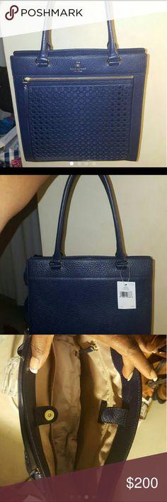 24 HR SALE Kate Spade tote Brand New Navy Blue beautiful KS bag kate spade Bags Totes