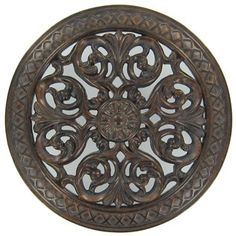 Black & Gold Polyresin Round Wall Medallion with Swirl Design | Shop Hobby Lobby