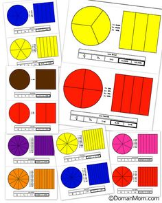 Printable Fractions Posters and Manipulatives (Free Download)
