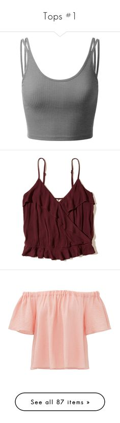 """""""Tops #1"""" by kelsiecloe on Polyvore featuring tops, shirts, ribbed crop top, strappy crop top, ribbed tank, sleeveless tank, cropped camisoles, burgundy, red crop top and red shirt Red Crop Top, Crop Tops, Strappy Crop Top, Red Shirt, Camisoles, Burgundy, Polyvore, Stuff To Buy, Shirts"""
