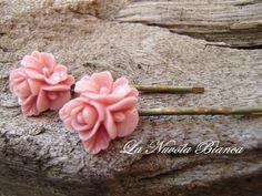 Mollette per capelli    Fiore  di La Nuvola Bianca su DaWanda.com