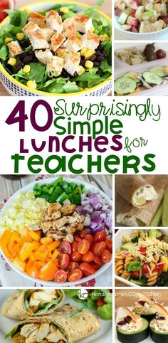 40 Surprisingly Simple Teacher Lunches This list of 40 teacher lunches is perfect to keep on hand for back to school season or anytime. Make packing a teacher lunch for school easy! Sponsored by Tap Influence - Fresh Drinks Lunch Snacks, Clean Eating Snacks, Lunch Recipes, Healthy Eating, Eat Lunch, Kid Snacks, Lunch Menu, Lunch Time, Lunch Box