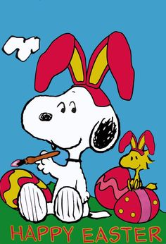 Snoopy and Woodstock Happy Easter Happy Easter Quotes, Happy Easter Day, Hoppy Easter, Easter Bunny, Easter Eggs, Happy Quotes, Peanuts Cartoon, Peanuts Snoopy, Schulz Peanuts