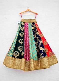 Summer Pop Colour Combined With Indian Embroideries In Zardosi, Resham, Kundan And Stone Work Indian Gowns Dresses, Indian Fashion Dresses, Indian Designer Outfits, Designer Dresses, New Dress Design Indian, Fancy Dress Design, Choli Designs, Lehenga Designs, Indian Wedding Outfits