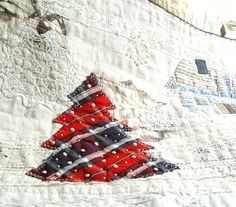 http://www.etsy.com/treasury/NTM5ODkzNXwyNzIzNTc5NjE4/all-i-want-for-christmas-is-aWinter Scene, Art Quilt, Home Decor, Red Blue White, Wall Art, Christmas Tree, Snow Landscape. $200.00, via Etsy.