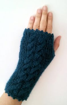 Teal Blue Super Soft Fingerless Mittens by yoncasshop on Etsy, $28.00