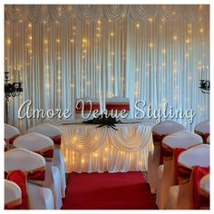 #Wedding #decor #starlight #twinkle #backdrop #ceremony #winter