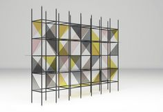 Bookcase by Emiliano salci e Britt Moran / Dimore Studio: parte della Roman Lounge presentata da Fendi a Design Miami, un'interpretazione ideale e contemporanea di un appartamento Fendi a Roma