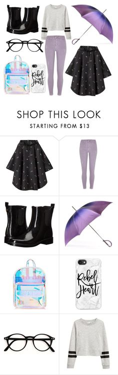 """""""rainy day"""" by aleksandradimitrova6 ❤ liked on Polyvore featuring Joules, River Island, Tory Burch, Black, Skinnydip and Casetify"""