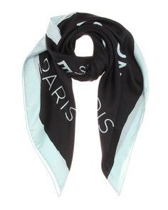 Balenciaga | Black Silk Scarf | Lyst