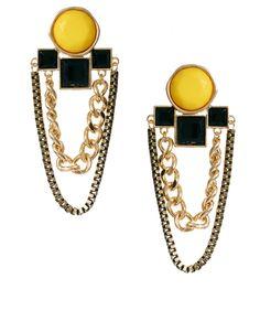 ASOS Jewelled Deco Chain Drop Earrings