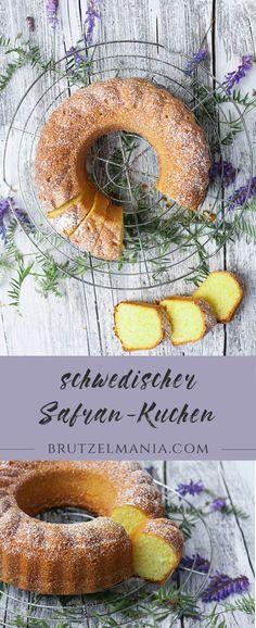 schwedische Kuchenspezialität Safrankuchen swedish Saffroncake